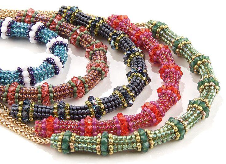 Miyuki Triangle Herringbone Necklace ~ Seed Bead Tutorials