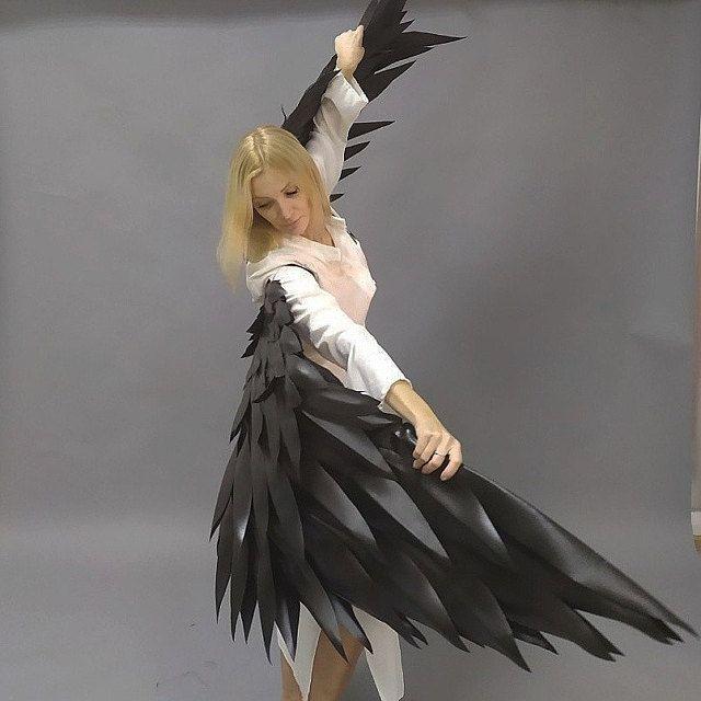 Angel Wings Giant Vleugels Black Feather Angel Wings Angel Wings