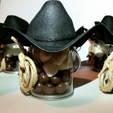 Mini baldinhos festa Faroeste com tema cowboy