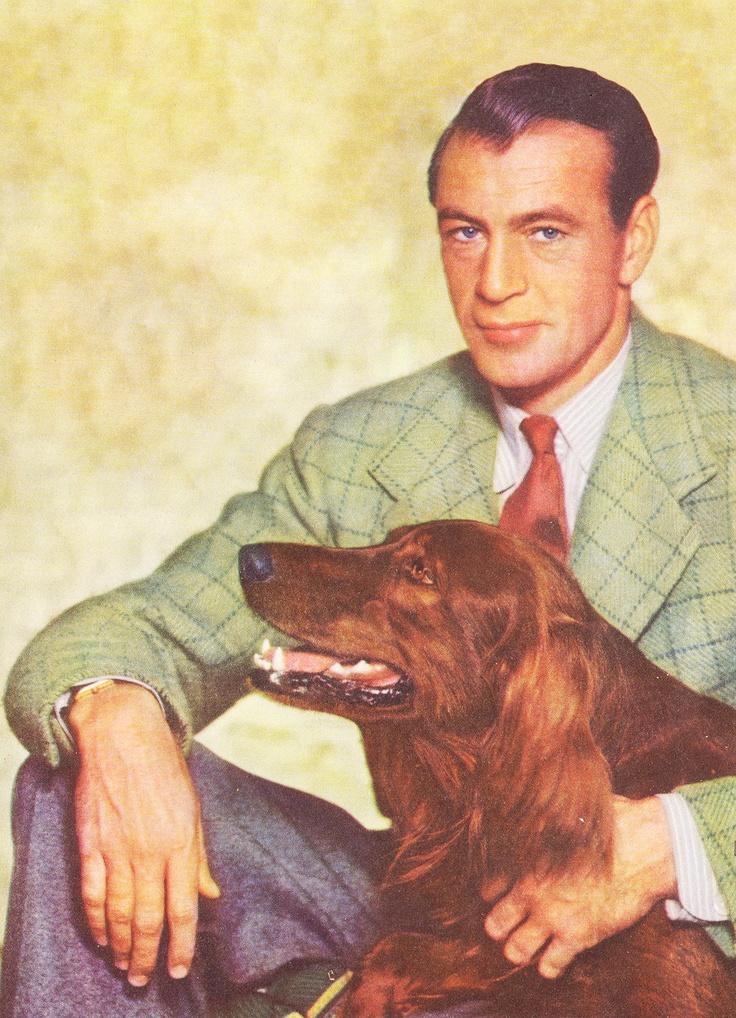 Gary Cooper + Irish setter...sigh...