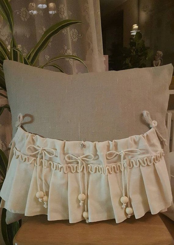 Decorative  linen pillow 40cm/40cm in by WhispersofAngels17