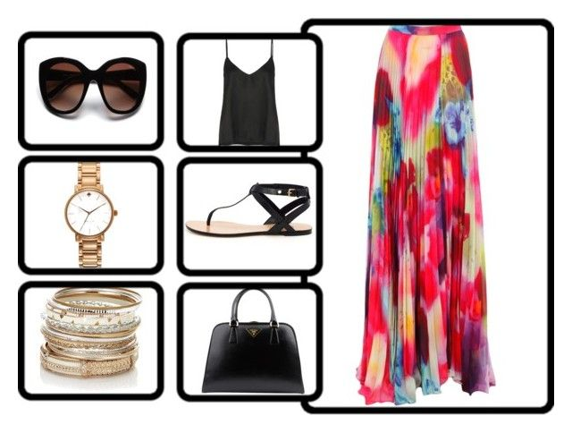 summer by abby-mercier on Polyvore featuring polyvore, fashion, style, Acne Studios, Alice + Olivia, KORS Michael Kors, Prada, Kate Spade, Accessorize and Nina Ricci