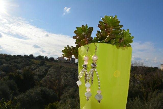 Handmade earrings designed by Elli