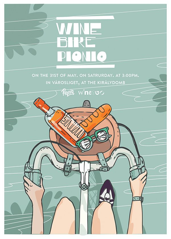 Wine Bike Piqniq posters on Behance
