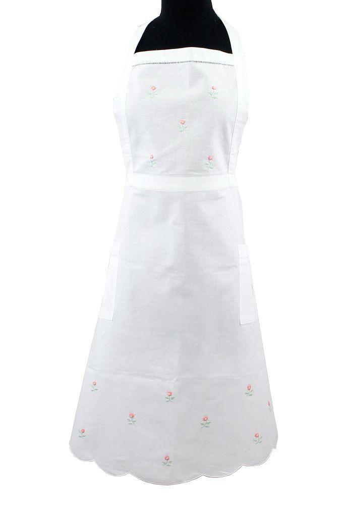 Rosebud Cotton Apron
