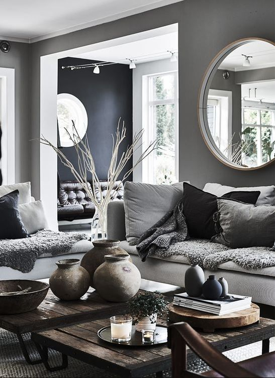 The Charcoal Grey Color Code You Need In Your Home Space Home Decor Living Room Color Schemes House Interior