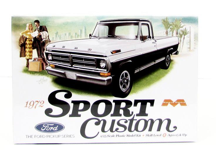 1972 Ford Sport Custom Truck Model Kit Moebius 1220 1/25