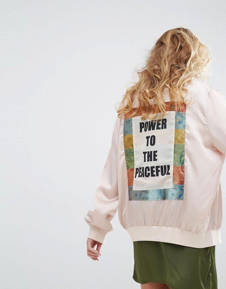 Native+Rose+Luxury+Bomber+Jacket+With+Back+Panel+Peace+Slogan