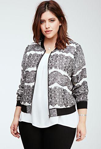 Lace Print Chiffon Jacket | FOREVER21 PLUS | #f21plus