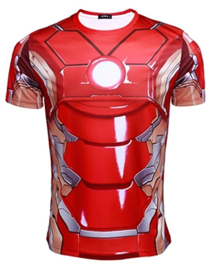 Iron Man Quick-dry Sports T-shirt, Breathable Short Sleeve T-shirt For Outdoor Sports.