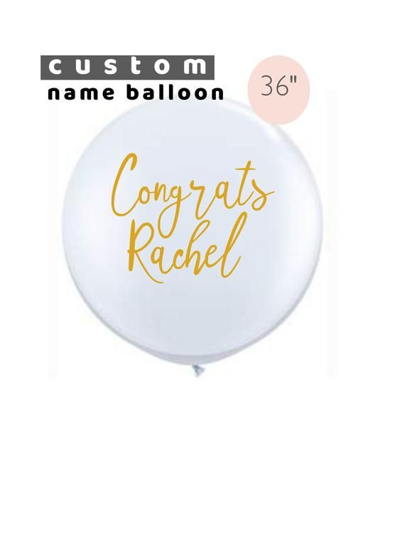 Custom Photo Decal Photo Sticker With Text Decal for 36 Inch Balloons Vinyl Decal Balloon Decal