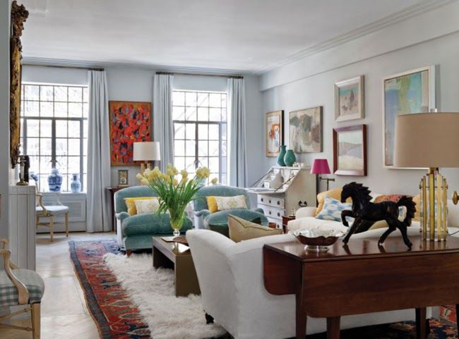 Funky Living Rooms With Farrow And Ball