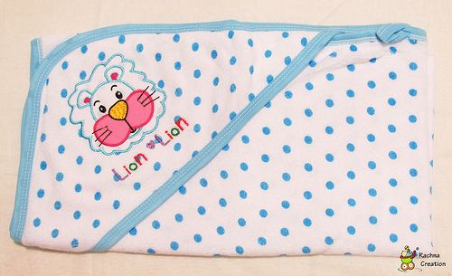 Extra smooth towels for your baby. Hooded towel with creative designs and patchworks.