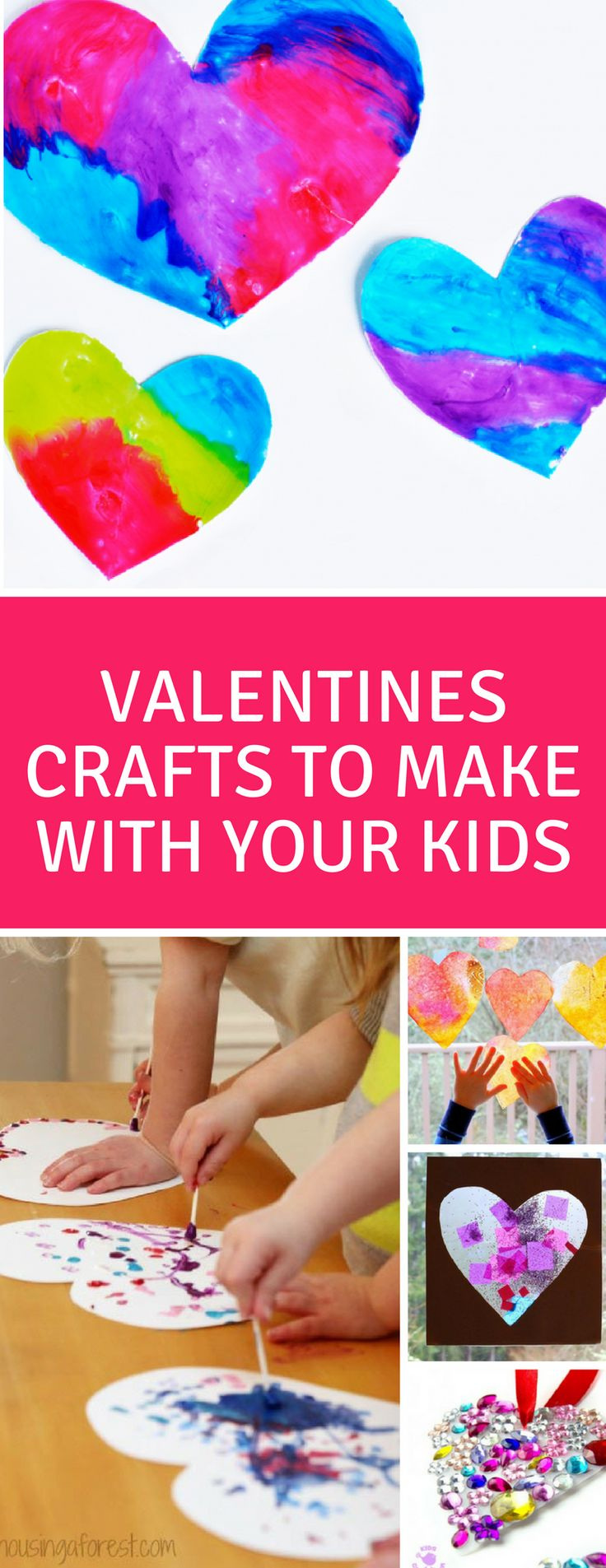 These Valentines Day crafts and activities for your toddlers and preschoolers are super cute and a lot of fun! #valentinesday #kids #kidcrafts