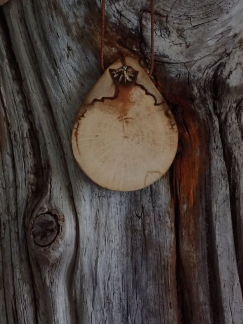 """spalted beech """"Tree Charm"""" Necklace"""