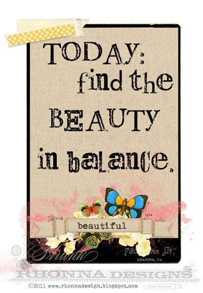 Find the Beauty in balance || #quote #balance #life
