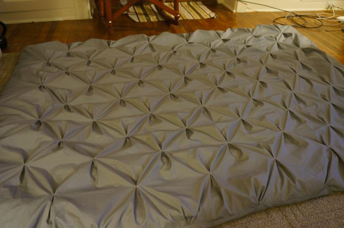 Pintuck Duvet DIY. Oh my gosh, I love this. Homemade duvet cover with sheets. Would cost about $20-$30. Much cheaper than a duvet cover from Bed Bath & Beyond!