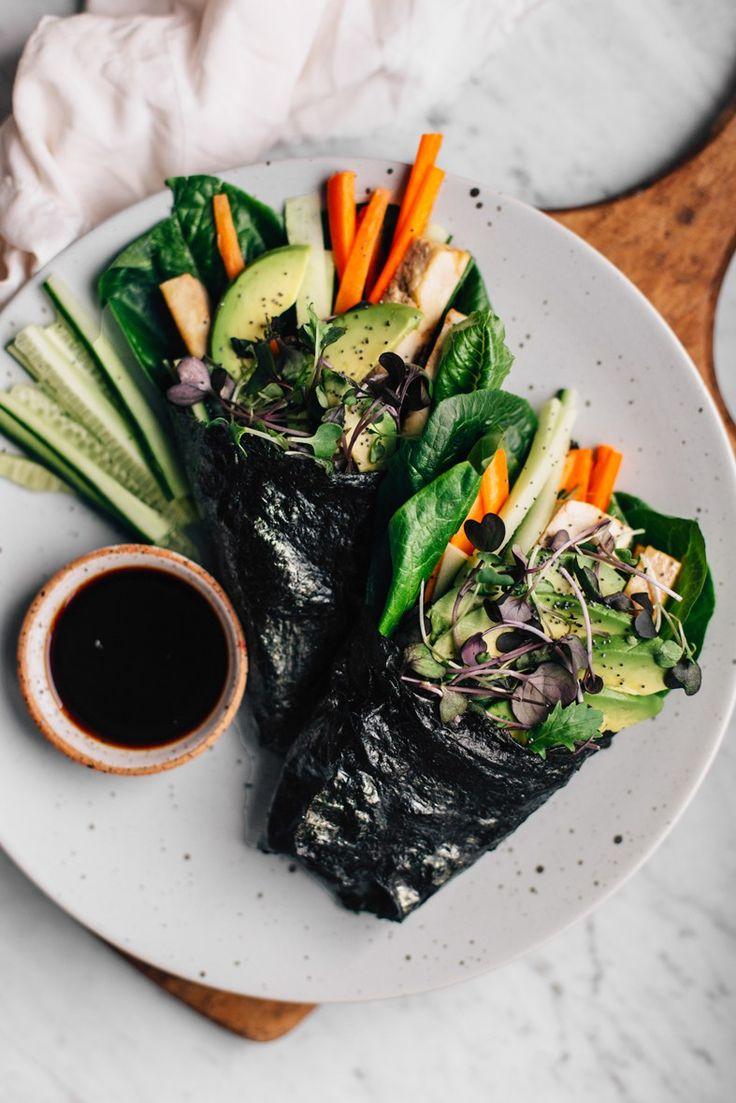 No-Rice Nori Rolls w/ Marinated Tofu & Veggies   tuulia blog