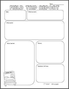 squarehead teachers field trip report upper grades freebie free teacher stuff. Black Bedroom Furniture Sets. Home Design Ideas