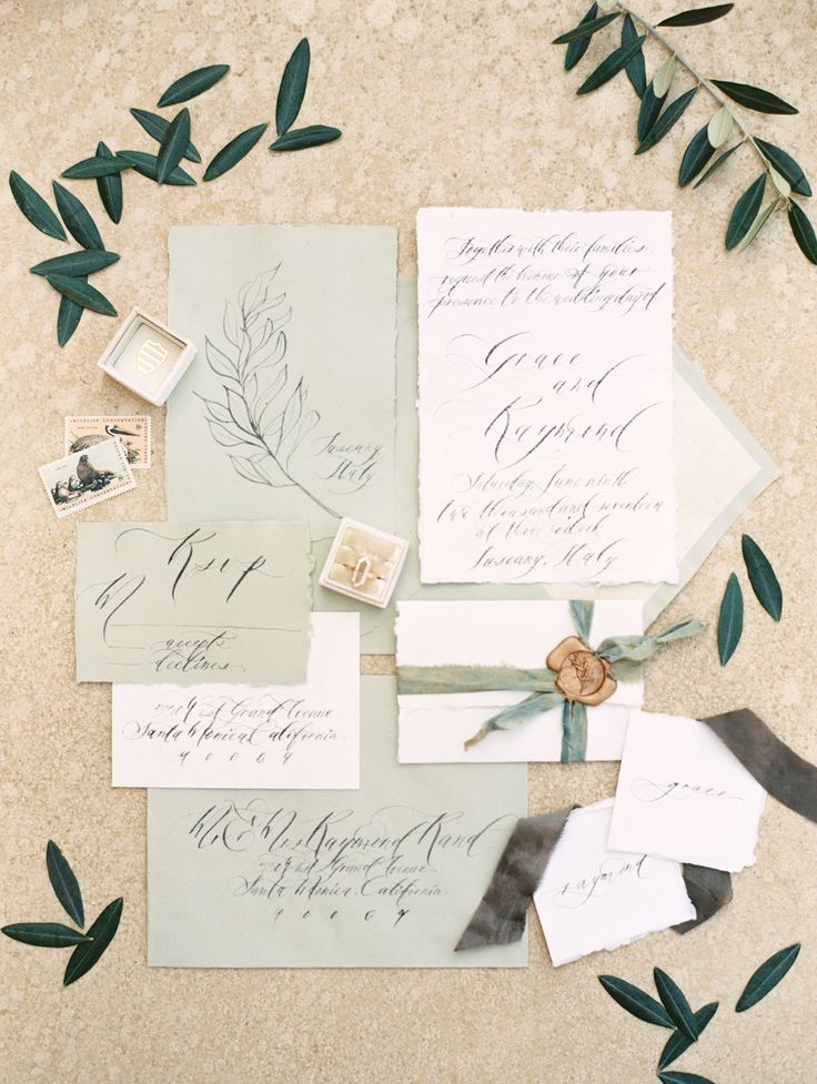 irish wedding invitations templates%0A Wedding stationery in olive green created by Seniman Calligraphy Photo  Allen Tsai Photography Weddingplanner  u     Stylist