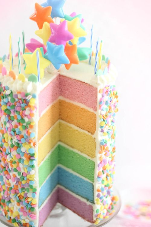 221 best images about cakes rainbow on pinterest