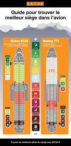 Guide pour trouver le meilleur siège dans l'avion - infographie #Planification #voyage #avion #Siège #Information #Confort #Guide #Infographie