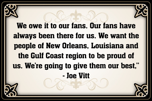 New Orleans Saints Assistant Head Coach/linebackers coach Joe Vitt quote