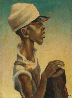 Benton, Thomas Hart; Tempera on Canvas Painting, signed, Mississippi Negro Boy: Negro Boy, Blackart, Canvas Paintings, Boys, Boy Artwork, Black Art, Mississippi Negro, Canvases