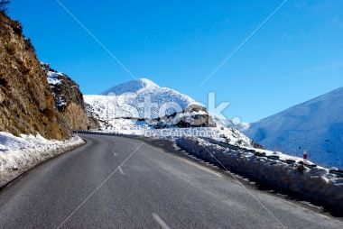 Great Alpine Highway Snowscene, New Zealand Royalty Free Stock Photo