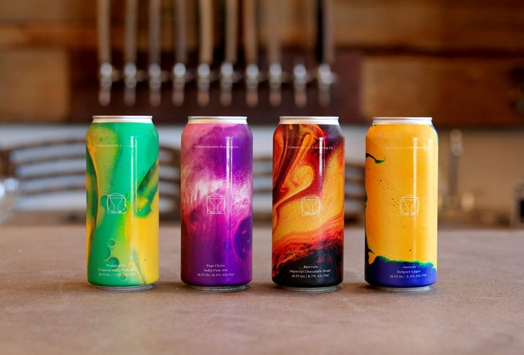 """A completely new approach to craft beer can design. Jeramy Biggie from Commonwealth Brew Co gave us a very simple brief -""""I want to be able to visually see the flavours I can taste inside the can"""".   We set about doing this by photographing oils and inks at a macro level and then editing in post. The results are spectacular amalgamation of colour that represents the dynamic and full flavoured beer inside the cans.   Cans you cant help but take notice of and pick up."""