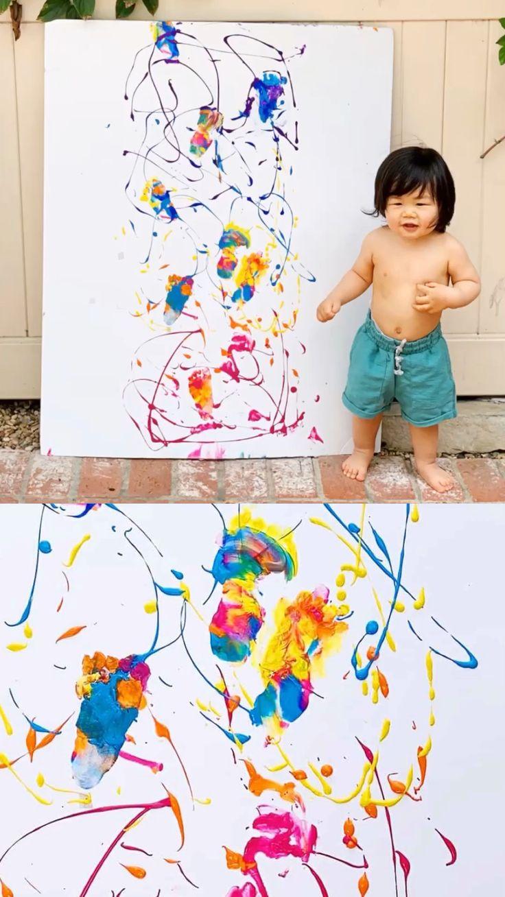 Baby's First Steps Footprint Art