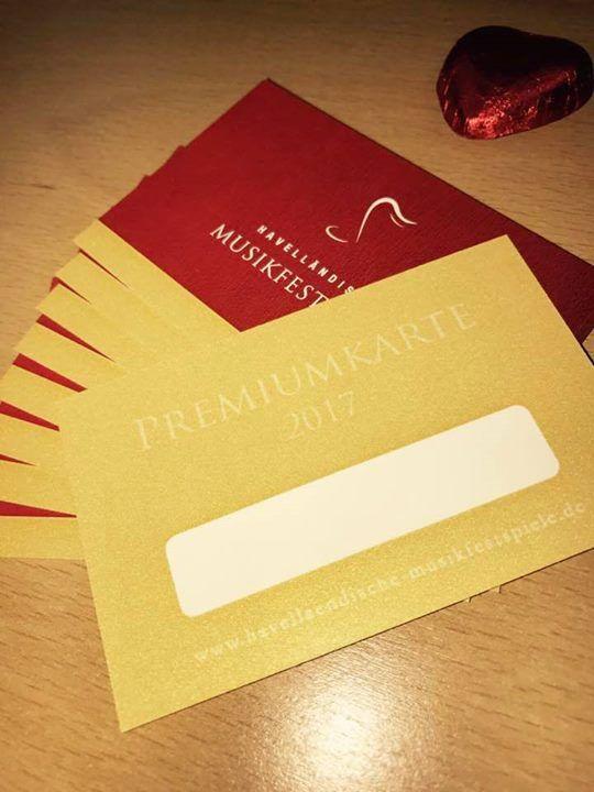 Unsere Goldene Premiumkarte frisch aus dem Druck! Für 50 werdet Ihr Premiumkunde bei uns und erhaltet 50% Rabatt auf alle Konzerte 2017 sowie gratis Programmhefte und weitere Überraschungen. Für Konzertgänger die erstmal nur reinschnuppern wollen gibt es auch die Silberne Premiumkarte für nur 25 und 25% Rabatt auf alle Konzerte. http://ift.tt/2gH9zn5
