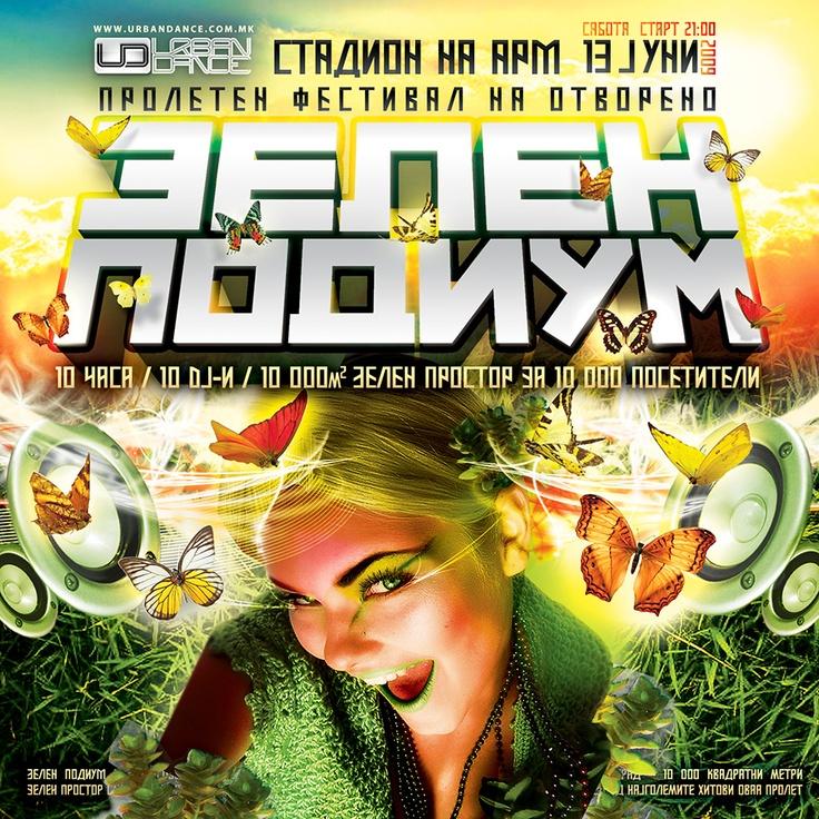 Flyer for Green Dancefloor open air party