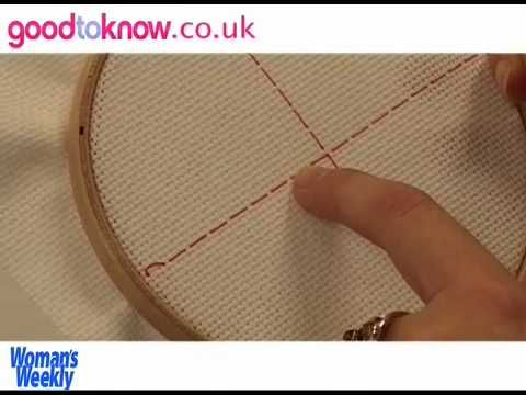 How to cross stitch - tutorial