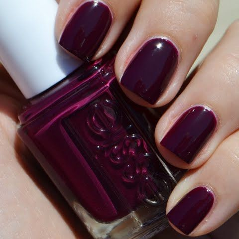 This solid manicure in this deep plum shade is simply fabulous. Achieve this manicure in a snap with these nail essentials.