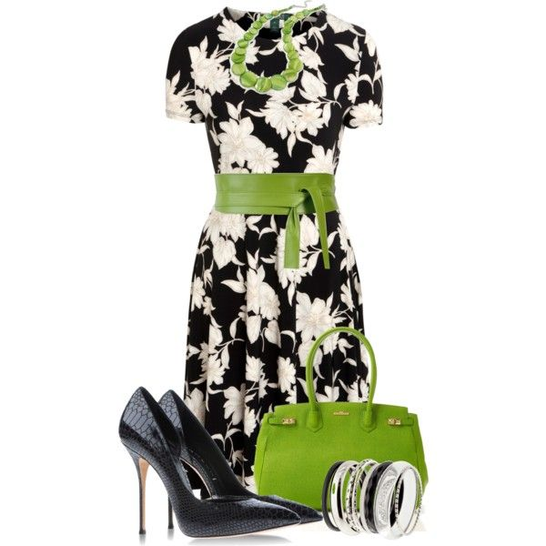 Pops of Color, created by justbeccuz on Polyvore