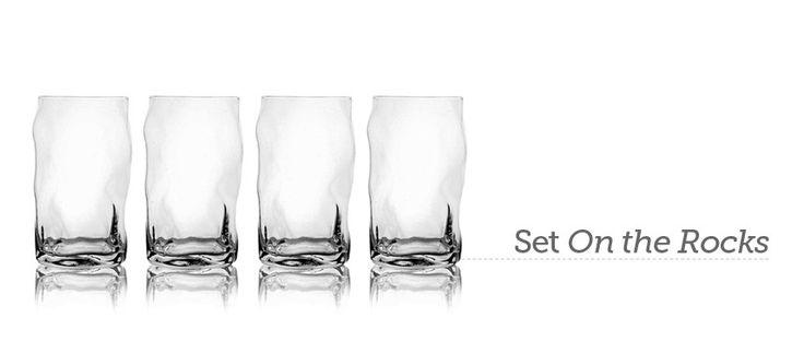 Set de 4 vasos altos On the Rocks.