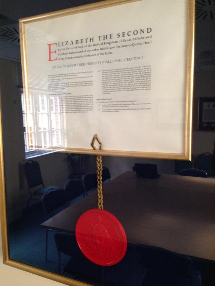 Royal Charter forming The Worshipful Company of Tax Advisers