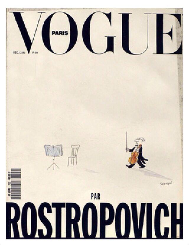 #Rostropovich #Sempe #VogueCover
