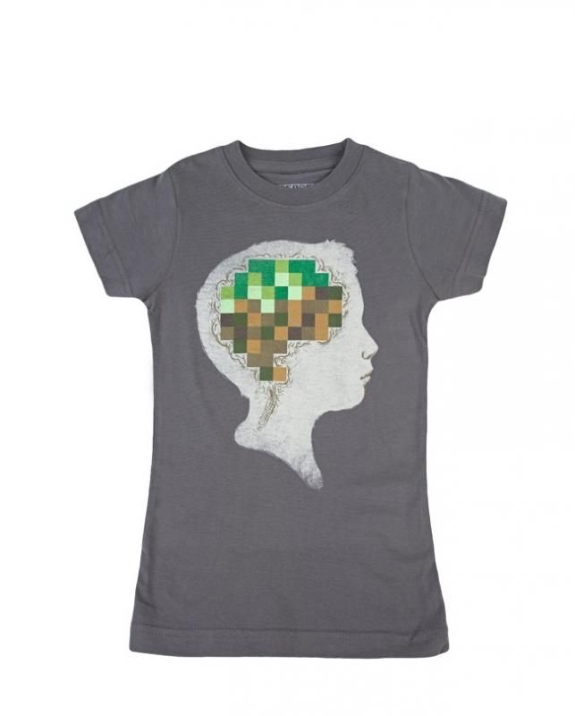 Minecrafted tee for kids on Threadless