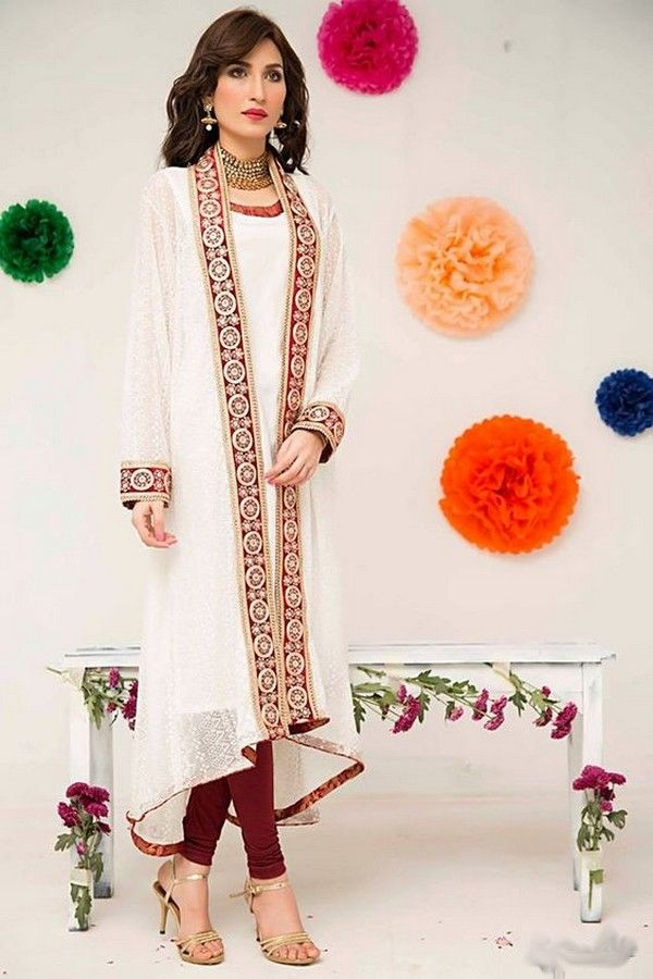 New Latest Gown Style Dresses in Pakistan 2017-18