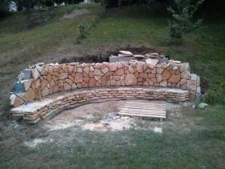 Inspirace na posezení s ohništěm z kamenů