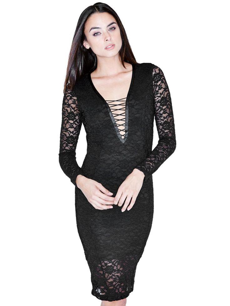 Tory Lace-Up Dress