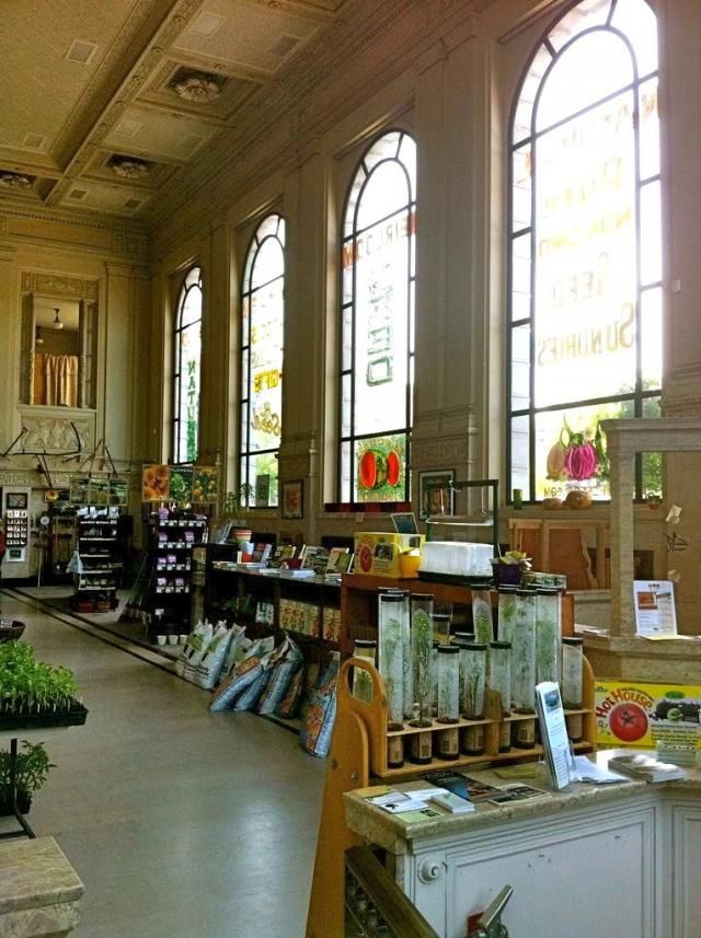 rare seeds for sale in Petaluma, California located in the grand old Sonoma County National Bank building