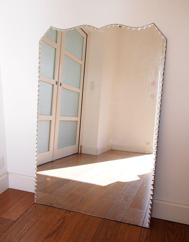 Miroir ancien biseauté | Paulette et Annette
