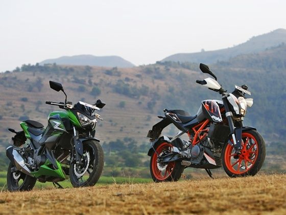 KTM 390 Duke and Kawasaki Z250