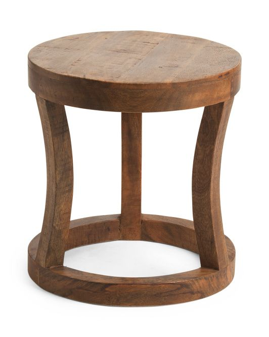 Phenomenal Classic Home Paris Round Mango Wood Stool Decor More In Caraccident5 Cool Chair Designs And Ideas Caraccident5Info