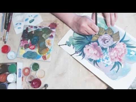 Роспись цветов, смешанная техника. - Ярмарка Мастеров - ручная работа, handmade