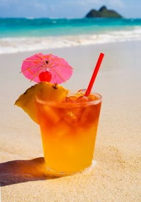 Mai Tai: White rum, dark rum, orange curacao, pineapple juice & orange juice