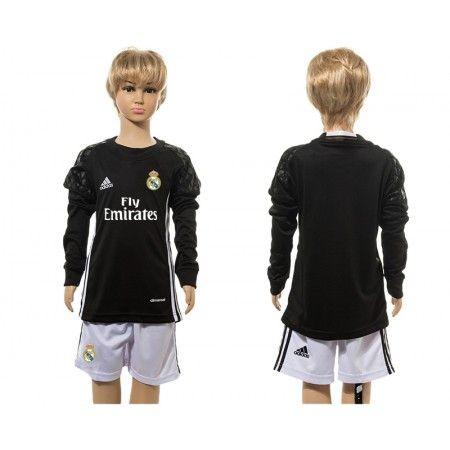 #Real Madrid Trøje Børn 16-17 målmand Sort Trøje Lange ærmer.199,62KR.shirtshopservice@gmail.com